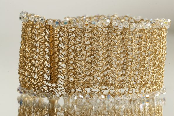 Gold filled bracelets  with Swarovski crystals [B2012]