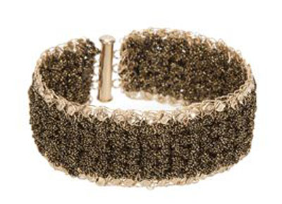 Gold filled bracelets  with lurex thread [B290]